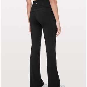 Groove pant flare size 6 black